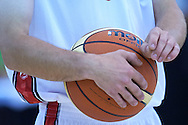 SO Poland athlete in action while basketball match SO Poland v SO Canada during second day of the Special Olympics World Games Los Angeles 2015 on July 26, 2015 on Galen Center at University of Southern California in Los Angeles, USA.<br /> USA, Los Angeles, July 26, 2015<br /> <br /> Picture also available in RAW (NEF) or TIFF format on special request.<br /> <br /> For editorial use only. Any commercial or promotional use requires permission.<br /> <br /> Adam Nurkiewicz declares that he has no rights to the image of people at the photographs of his authorship.<br /> <br /> Mandatory credit:<br /> Photo by © Adam Nurkiewicz / Mediasport