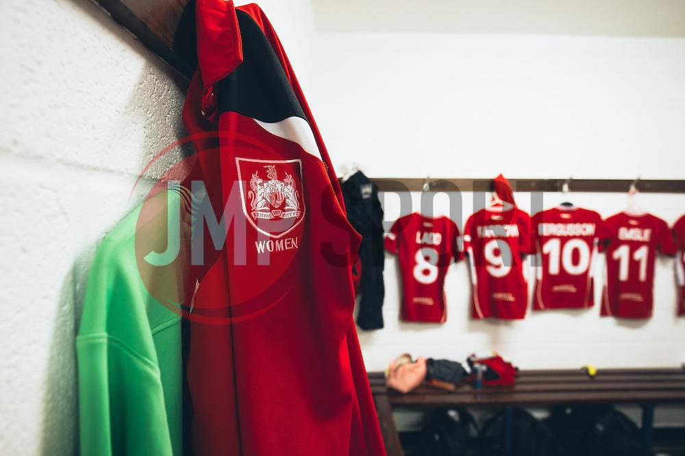 A look inside the Bristol City Women dressing room - Rogan Thomson/JMP - 06/11/2016 - FOOTBALL - The Northcourt Stadium - Abingdon-on-Thames, England - Oxford United Women v Bristol City Women - FA Women's Super League 2.
