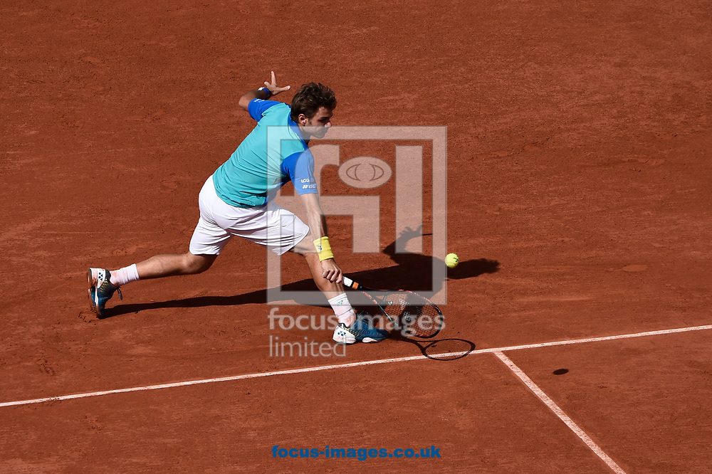 Stan Wawrinka of Switzerland on day thirteen of the French Open  Tournament of the ATP Tour at Roland Garros, Paris<br /> Picture by EXPA Pictures/Focus Images Ltd 07814482222<br /> 09/06/2017<br /> *** UK &amp; IRELAND ONLY ***<br /> <br /> EXPA-THI-170609-5334.jpg
