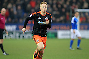 Sheffield United midfielder Mark Duffy (21) during the EFL Sky Bet League 1 match between Peterborough United and Sheffield Utd at London Road, Peterborough, England on 11 February 2017. Photo by Nigel Cole.