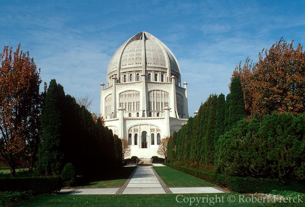 CHICAGO, HISTORIC ARCH. Ba'Hai Temple, BaHai Religion,  Wilmette, North suburb