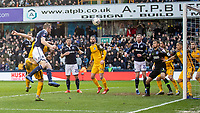 Football - 2018 / 2019 Emirates FA Cup - Sixth Round, Quarter Final : Millwall vs. Brighton<br /> <br /> Alex Pearce (Millwall FC) heads home the opening goal at The Den.<br /> <br /> COLORSPORT/DANIEL BEARHAM