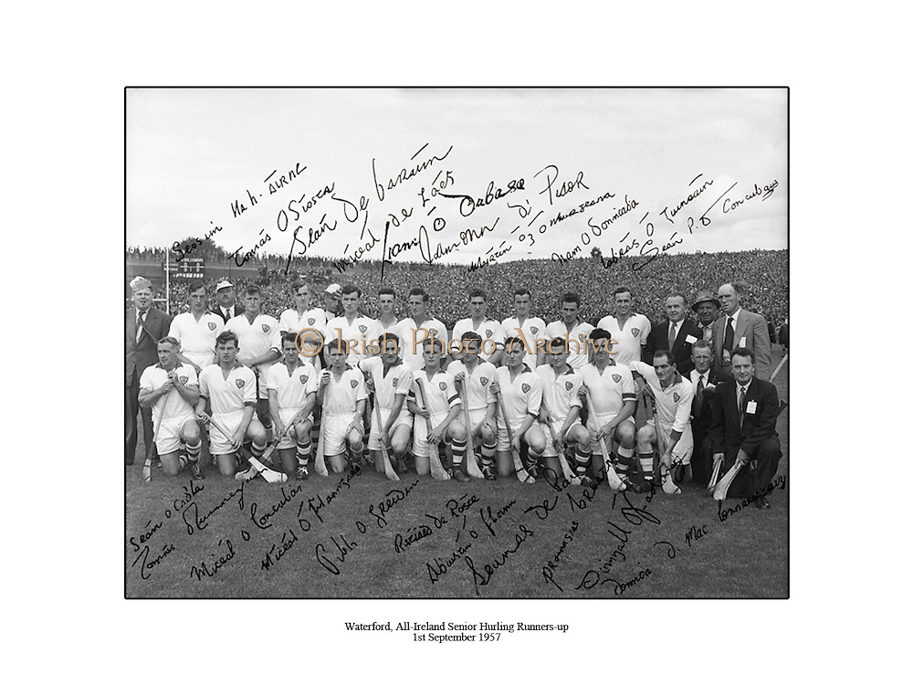 Waterford, All Ireland Hurling Final Runners-up, 1st September 1957