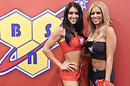 LAS VEGAS, NEVADA, JULY 10, 2009: Models pose at the BSN booth during the UFC Fan Expo inside the Mandalay Bay Convention Centre in Las Vegas, Nevada