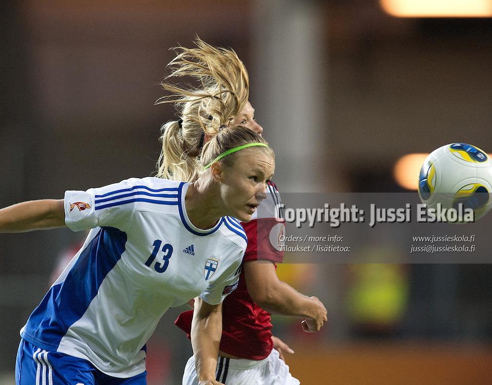 Heidi Kivelä. Tanska - Suomi. Naisten EM-turnaus. Göteborg, Ruotsi 16.7.2013. Photo: Jussi Eskola