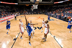 Morehead St. guard Philnisha Lindsey (3) shoots against UVA.  The Virginia Cavaliers women's basketball team defeated the Morehead State Eagles 88-43 at the John Paul Jones Arena in Charlottesville, VA on February 4, 2008.