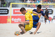 BARCELONA, SPAIN - MAY 02: Barcelona Beach Soccer Cup 2015 at Port Olímpic on May 2, 2015 in Barcelona, Spain. (Photo by Alex Caparrós)