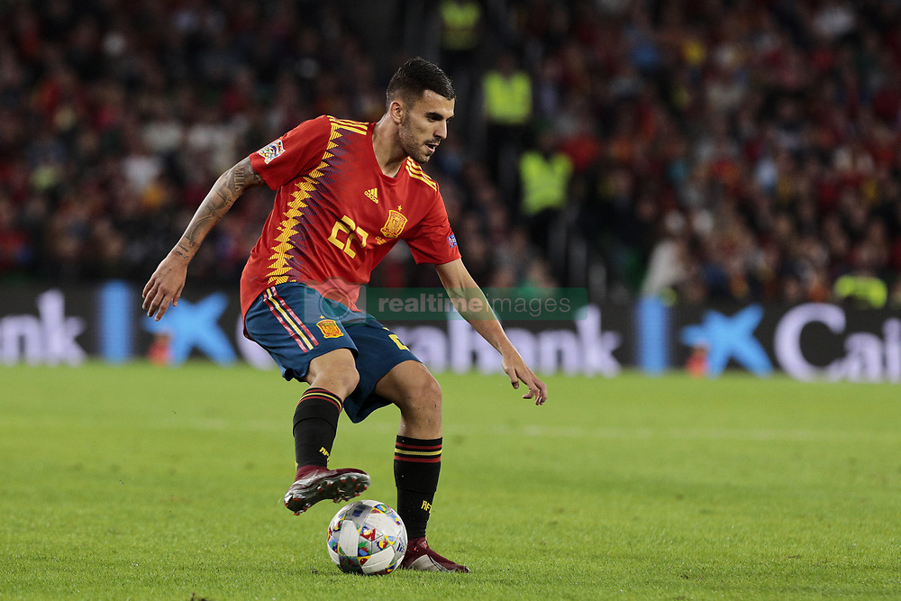 Spain's Dani Ceballos during UEFA Nations League 2019 match between Spain and England at Benito Villamarin stadium in Sevilla, Spain. October 15, 2018. Photo by A. Perez Meca/Alterphotos/ABACAPRESS.COM
