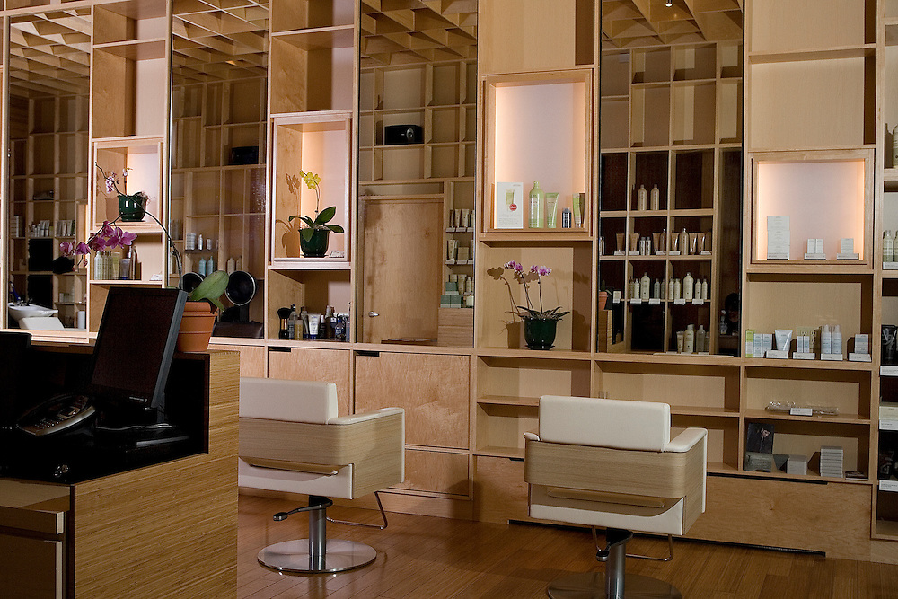 Interior images of hair salon