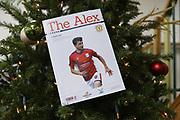 Match programme during the EFL Sky Bet League 2 match between Crewe Alexandra and Lincoln City at Alexandra Stadium, Crewe, England on 26 December 2018.