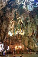 A Shakyamuni Buddha statue towers over the Huyen Khong Cave on Nhuyen Son Mountain, Da Nang, Vietnam
