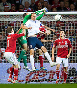 [DK=06-09-2011: EURO 2012 Kval. Danmark vs. Norge -  Keeper Thomas Sørensen, Danmark - Brede Hangeland, Norge..© Lars Rønbøg / Sportsagency ].[UK=06-09-2011: EURO 2012 Qual. Denmark vs. Norway - Keeper Thomas Soerensen, Denmark - Brede Hangeland, Norway..© Lars Ronbog / Sportsagency ].