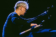 Photos of the musicians Ryuichi Sakamoto and Taylor Deupree performing live during Sónar Reykjavík music festival at Harpa concert hall in Reykjavík, Iceland. February 13, 2014. Copyright © 2014 Matthew Eisman. All Rights Reserved
