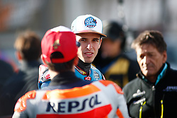 November 17, 2019, Cheste, VALENCIA, SPAIN: Alex Marquez, rider of EG 0,0 Marc VDS from Spain, attends during the World Champion photo during the Valencia Grand Prix of MotoGP World Championship celebrated at Circuit Ricardo Tormo on November 16, 2019, in Cheste, Spain. (Credit Image: © AFP7 via ZUMA Wire)