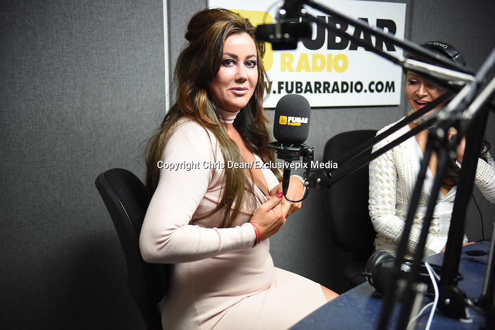 EXCLUSIVE<br /> Lisa Appleton and Lizzie Cundy at Fubar Radio<br /> &copy;Chris Dean/Exclusivepix Media
