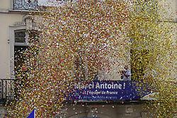 July 20, 2018 - Macon, France - ANTOINE GRIEZMANN ET SA FILLE  DE RETOUR A MACON .APRES SON TITRE DE CHAMPION DU MONDE (Credit Image: © Panoramic via ZUMA Press)