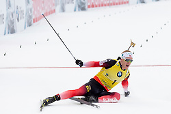 Johannes Thingnes Boe (NOR) in action during the Pursuit Men 12,5 km at day 8 of IBU Biathlon World Cup 2018/19 Pokljuka, on December 9, 2018 in Rudno polje, Pokljuka, Pokljuka, Slovenia. Photo by Urban Urbanc / Sportida