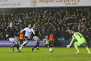 GOAL - Everton striker Cenk Tosun (14) shoots past Millwall goalkeeper Jordan Archer (1) to score during the The FA Cup fourth round match between Millwall and Everton at The Den, London, England on 26 January 2019.