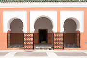MARRAKESH, MOROCCO - 19TH APRIL 2016 - Zaouia / zawiya burial tomb shrine site of Sidi Bel Abbas (Abu al-Abbas) al-Sabti, Marrakesh, Morocco.