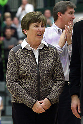 21 February 2015:  Dennie Bridges wife Rita.  At half time of an NCAA D# CCIW men's basketball game between the Illinois Wesleyan Titans in Shirk Center, Bloomington IL the floor was named in honor of retiring Dennie Bridges.  Dennie Bridges has been on the job at IWU for 51 years as a basketball coach, then athletic director.  Dennie is the 2nd winningest D3 coach by wins behind only Dick Saurs.  Dennie took the Titans to the D3 NCAA tournament 14 times in 18 season. He had a league record of 421-129 in 17 seasons.  Jack Sikma was a part of Dennie's 1973 recruiting class.  Sikma later played for the Milwaukee Bucks and Seattle Supersonics in the NBA.  IWU President Richard Wilson presided over the ceremony.