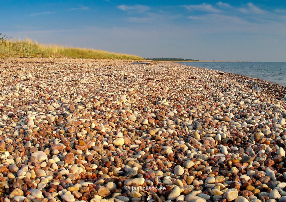 Pebble Stones on Harilaid Beach in Vilsandi National Park, Saaremaa, Estonia