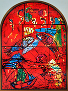 The Tribe of Zebulun. The Twelve Tribes of Israel depicted in stained glass By Marc Shagall (1887 - 1985). The Twelve Tribes are Reuben, Simeon, Levi, Judah, Issachar, Zebulun, Dan, Gad, Naphtali, Asher, Joseph, and Benjamin.