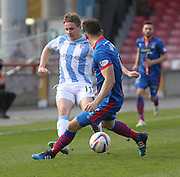 Dundee's Simon Ferry and Inverness Caley Thistle's Josh Meekings - Inverness v Dundee  - SPFL Premiership at the Caledonian Stadium<br /> <br />  - &copy; David Young - www.davidyoungphoto.co.uk - email: davidyoungphoto@gmail.com