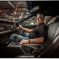 Paul Beranger and his De Tomaso Mangusta in his garage at home.<br /> Pic by Shannon Morris