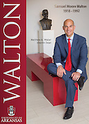 Environmental Portrait of Matthew Waller, interim dean of the University of Arkansas Sam Walton College of Business in Fayetteville, Arkansas.