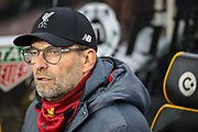 Liverpool Manager Jürgen Klopp during the Premier League match between Wolverhampton Wanderers and Liverpool at Molineux, Wolverhampton, England on 23 January 2020.