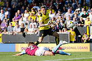 Burton Albion midfielder Michael Kightly (28) has a shot but hits the post (1-0) during the EFL Sky Bet Championship match between Burton Albion and Aston Villa at the Pirelli Stadium, Burton upon Trent, England on 8 April 2017. Photo by Richard Holmes.