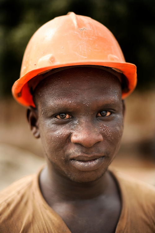 A close up portrait of a Beninese construction worker in Kpataba, Benin February 24, 2008.