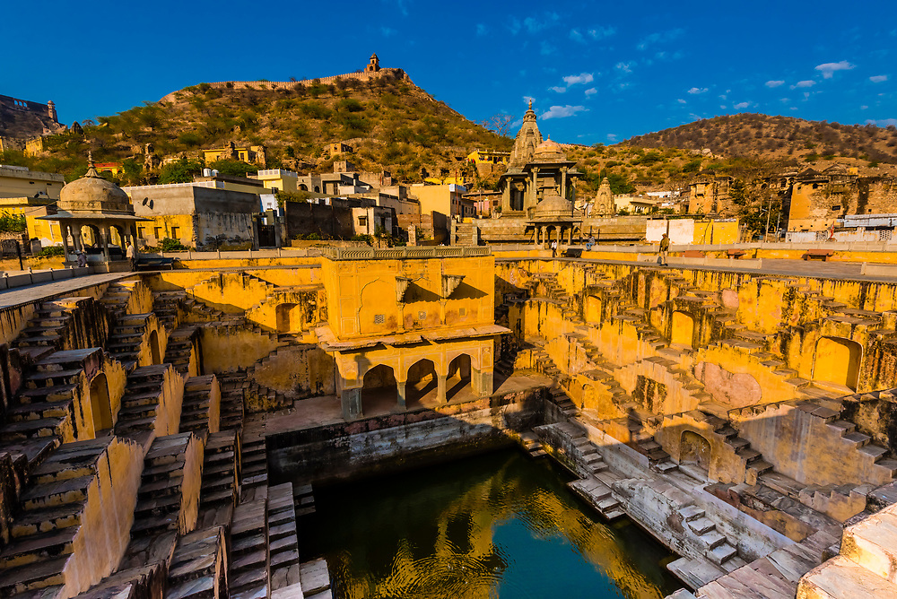 Panna Meena Ka Kund step well, (baori), Amer (near Jaipur), Rajasthan, India.