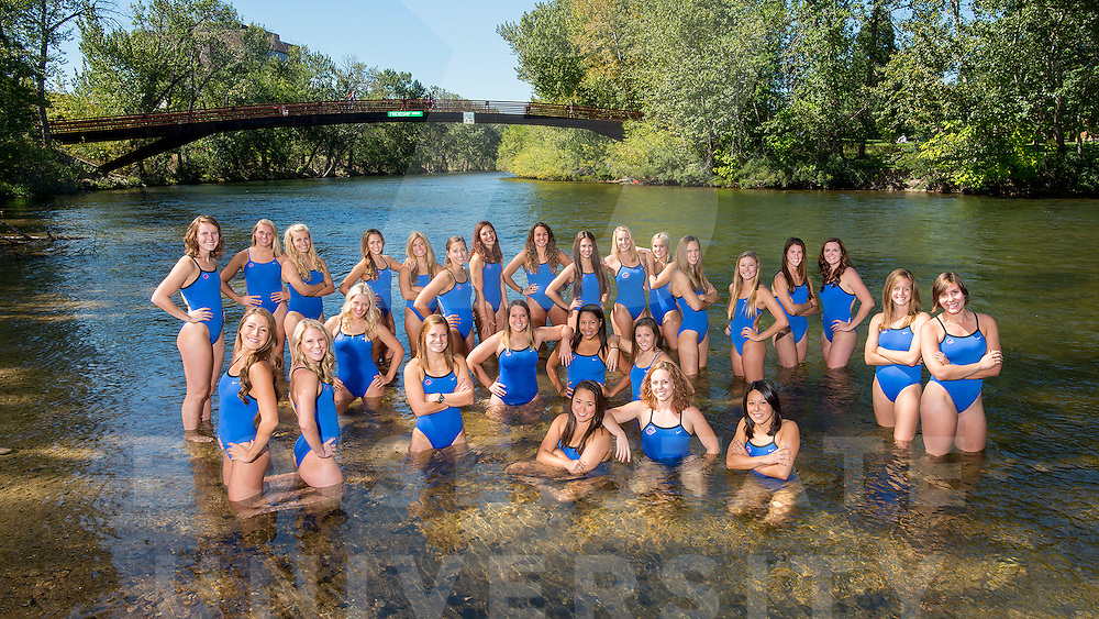 Swimming and Diving, team and portraits, Boise River, John Kelly photo