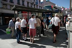 UK ENGLAND BRIGHTON 8SEP16 - Elderly people queue at a bus stop in Brighton town centre.<br /> <br /> jre/Photo by Jiri Rezac<br /> <br /> &copy; Jiri Rezac 2016