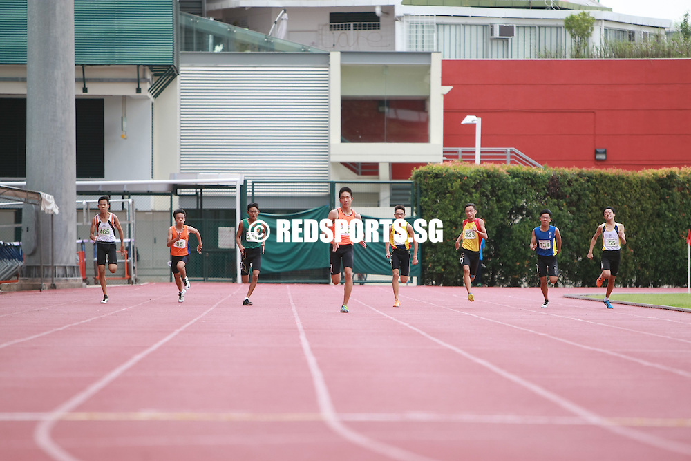 Bishan Stadium, Monday, April 25, 2016 — Reuben Lee of Singapore Sports School dominated the C Division 200m contest in 23.07 seconds to claim the gold medal at the 57th National Schools Track and Field Championships.