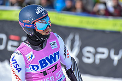 02.12.2018, Beaver Creek, USA, FIS Weltcup Ski Alpin, Beaver Creek, Riesenslalom, Herren, 1. Lauf, im Bild Tommy Ford (USA) // Tommy Ford of the USA reacts after his 1st run of men's Giant Slalom of FIS ski alpine world cup in Beaver Creek, United States on 2018/12/02.12.2018. EXPA Pictures © 2018, PhotoCredit: EXPA/ Erich Spiess