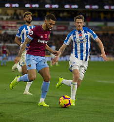 Ryan Fredericks of West Ham United in action - Mandatory by-line: Jack Phillips/JMP - 10/11/2018 - FOOTBALL - The John Smith's Stadium - Huddersfield, England - Huddersfield Town v West Ham United - English Premier League