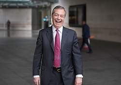 © Licensed to London News Pictures. 29/01/2017. London, UK. Former UKIP party leader Nigel Farage leaves BBC Broadcasting House.  Photo credit: Peter Macdiarmid/LNP
