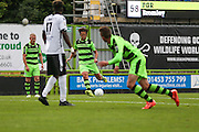 Forest Green Rovers Darren Carter (12) takes a free kick during the Vanarama National League match between Forest Green Rovers and Bromley FC at the New Lawn, Forest Green, United Kingdom on 17 September 2016. Photo by Shane Healey.