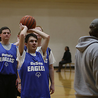 Matthew Bell of the DeSoto Eagles warms up Saturday at the Special Olympics Mississippi Spring Games basketball tournament at Ole Miss