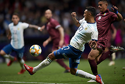 March 22, 2019 - Madrid, Madrid, Spain - Matias Suarez (River) of Argentina shooting to goal during the international friendly match between Argentina and Venezuela at Wanda Metropolitano Stadium in Madrid, Spain on March 22 2019. (Credit Image: © Jose Breton/NurPhoto via ZUMA Press)