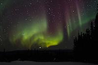 The aurora borealis (northern lights) just outside of Fairbanks, Alaska. March 22, 2012.