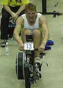 &copy; Peter Spurrier/Sports Photo +44 (0) 7973 819 551.PPP Healthcare British Indoor Rowing Championships.18th Nov. 2001.National Indoor Arena...MatthewPinsent, applies the power, as her starts to catch his Olympic and World Champion partner, James Cracknell at the World Indoor Rowing Championship at the national Indoor Arena - Birmingham... [Mandatory Credit: Peter SPURRIER/Intersport Images]<br /> <br /> 20011118 British Indoor Rowing Championships, Birmingham.