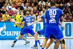 Cehte Nejc #3 of RK Gorenje Velenje during handball match between RK Gorenje Velenje and RK Celje Pivovarna Lasko in SEHA league, Round 1, on 30th of August , 2017 in Rdeca Dvorana, Velenje, Slovenia. Photo by Grega Valancic/ Sportida