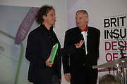 YVES BEHAR AND JAMES DYSON, Brit Insurance Design Awards. Design Museum. London. 18 March 2008.  *** Local Caption *** -DO NOT ARCHIVE-© Copyright Photograph by Dafydd Jones. 248 Clapham Rd. London SW9 0PZ. Tel 0207 820 0771. www.dafjones.com.