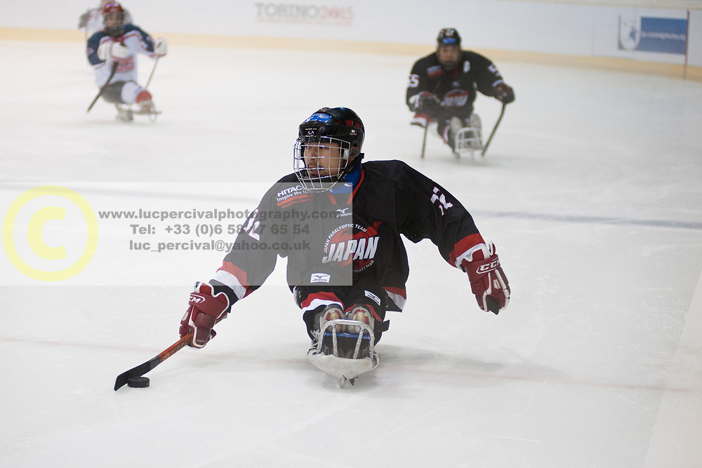 GBR v JPN during the 2013 World Para Ice Hockey Qualifiers for Sochi, Torino, Italy