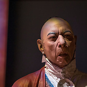 Thursday,  February 23, 2017, The Museum of the American Revolution has installed more than 15 incredibly lifelike figures in a series of historical vignettes that recreate particular moments during the American Revolution. These figures aim to personalize the wide range of people who were involved in the Revolution before the age of photography. Here, lifelike figures of six Native American men and women wearing authentic 18th century apparel  installed on Thursday, Feb. 23 in a multimedia gallery dedicated to the Oneida (Oh-NY-duh) Indian Nation at the new Museum of the American Revolution.   ED HILLE . Staff Photographer