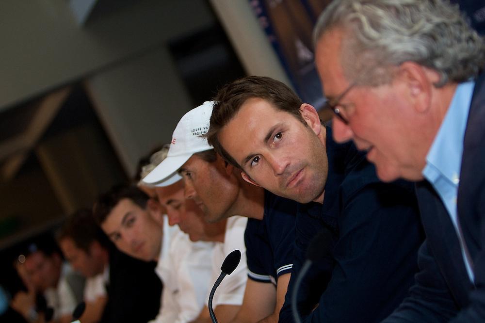 NEW ZEALAND, Auckland, RNZYC, Louis Vuitton Pacific Series Press Conference, 29th January 2009,  Ben Ainslie, Skipper, TEAMORIGIN
