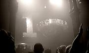 Hacienda main dance floor, 10th birthday party, Hacienda club, Manchester, 1992